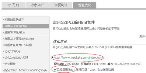 html网页已经成功启用了GZip压缩