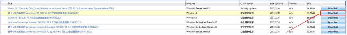 Windows 7 x64 (64位)安全更新程序(KB4012212) 下载