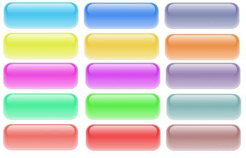 15个水晶透明光亮按钮(png)