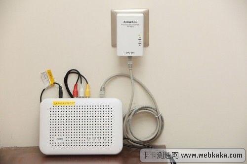 电力猫连接IPTV机顶盒