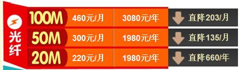 广州电信光纤宽带资费套餐