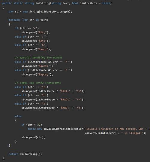 C# XML Encoded