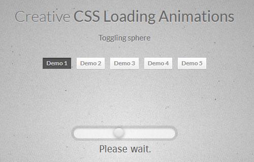 5个CSS Loading 加载动画实例
