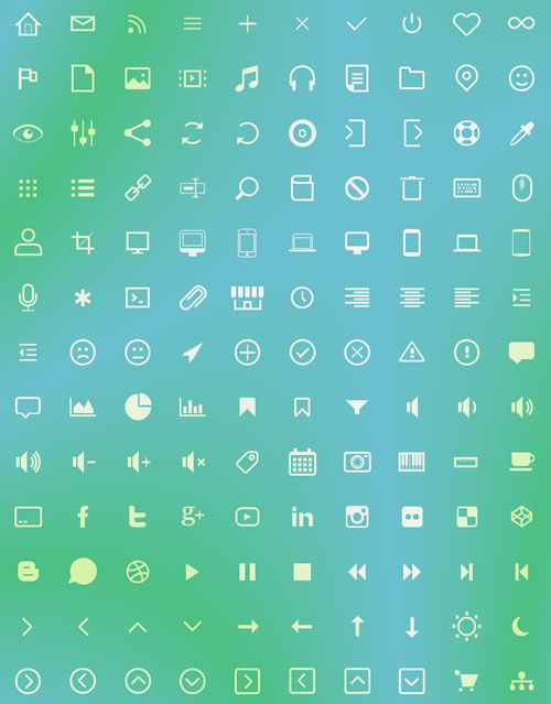130个纯CSS3图标(CSS icons)