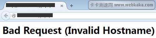Bad Request (Invalid Hostname)